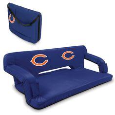 Chicago Bears Blue Reflex Portable Couch at www.SportsFansPlus.com