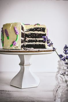 Freshly picked lavender can be infused into butter. Let the butter cool and then you can whip it into a delicious infused buttercream frosting to elevate your dessert game!