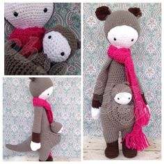 KIRA the kangaroo made by Jen B. / crochet pattern by lalylala