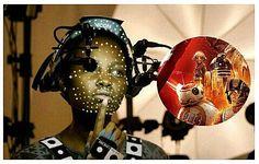 Lupita Nyong'o tras las cámaras en su personaje Maz Kanata. #starwarseverywhere  #bb8 #starwars #cienciaficcion #starwarstheforceawakens #StarWars  #mazKanata