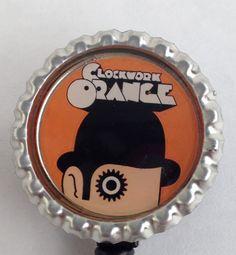 Clockwork Orange Work Badge on Etsy, $5.00