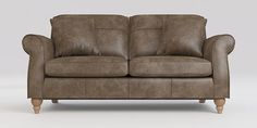Buy Ashford Leather Medium Sofa Seats) Santiago Mid Brown Low Turned - Light from the Next UK online shop Room Wanted, Lavender Cottage, Turn Light, Cottage Living Rooms, French Grey, Large Sofa, Sofas, Love Seat, Couch