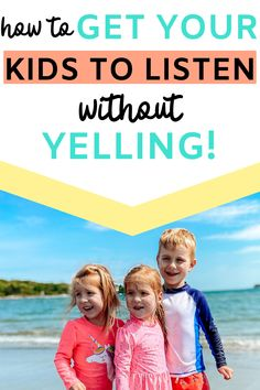 Genius tips to get your kids to listen to you, the first time... without yelling! Are you exhausted from telling your children to do things, only to have them ignore you? Figure out how to get them to obey with these helpful tips. #parentingtips #momtips #motherhood Parenting Fail, Parenting Styles, Gentle Parenting, You Got This, Told You So, How To Teach Kids, Raising Kids, Teaching Kids, Preschool