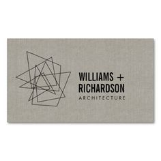 Abstract Geometric Architectural Logo Linen/Black