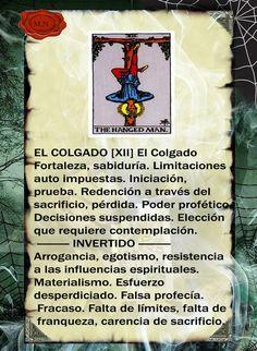 Trastos de Bruja: El Colgado Tarot Significado, Oracle Tarot, Tarot Card Meanings, Spirit Guides, Tarot Decks, Tarot Cards, Wiccan, Astrology, Spirituality