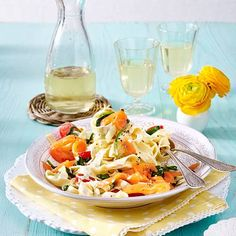 Pasta Salad, Ethnic Recipes, Food, Pasta With Salmon, Stuffed Pasta, Salads, Spinach Recipes, Popular Recipes, Cooking
