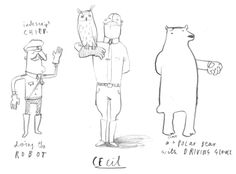 Character Development Sheet Cecil & Friends – Oliver Jeffers – Illustrators & Artists Agents – Début Art