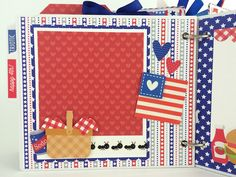 Doodlebug Design Inc Blog: Patriotic Picnic: Star Spangled Mini Album