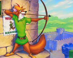 The fox was probably he most appropriate outward representation of Robin Hood. As he's was sly, resourceful, quick thinking. Thanks Mr Disney