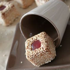 Petits fours sesame - Crunchy and delicious petits fours with toasted sesame