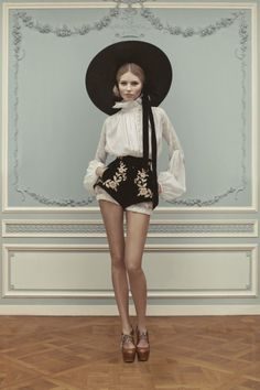 stormtrooperfashion:    Vika Falileeva for the Ulyana Sergeenko Haute Couture SS 2013 Lookbook  See more from this sethere.