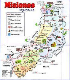 Mapa Fisico De La Provincia De Misiones Argentina Misiones - Argentina misiones map