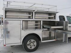 Custom All-Aluminum Trailers, Truck Bodies, Boxes For Sale Aluminum Truck Beds, Aluminum Trailer, Utility Truck Beds, Utility Trailer, Truck Boxes, Truck Tool Box, Custom Truck Beds, Custom Trucks, Welding Trucks