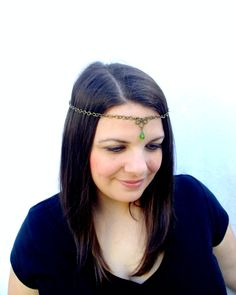Antiqued Brass Circlet Chain circlet with by RuthNoreDesigns, $18.00