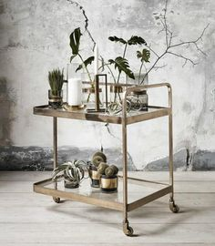 "Learn even more info on ""gold bar cart styling"". Browse through our site. Diy Bar Cart, Bar Cart Styling, Bar Cart Decor, Brass Bar Cart, Gold Bar Cart, Bar Trolley, Drinks Trolley, Bar Carts, Unique Furniture"
