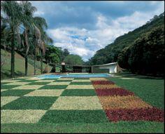 Edmundo Cavanelas House, 1954, Rio de Janeiro. Landscape design by Roberto Burle Marx.