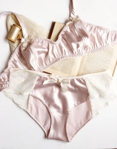 Ballet Pink Satin Soft Bra and Panties, Ohhh Lulu [Canada]