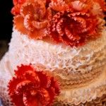 Ombre  Buttercream Frosting Cake with Gum Paste Flowers by The SweetSpot