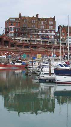 Royal Temple Yacht Club in Ramsgate Harbour, Kent .