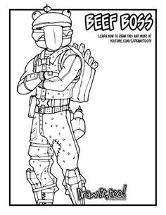 Fortnite Thanos Printable Coloring Page For Teachers