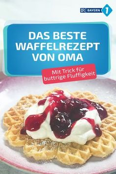 Waffel Rezept Classic as from grandma - the best waffles in the world with lots of butter and mineral water. Grandmother& best waffle recipe - with a very simple but wonderful ingredient that makes the waffles really fluffy. Best Waffle Recipe, Waffle Recipes, Easy Cake Recipes, Cupcake Recipes, Baby Food Recipes, Cookie Recipes, Dessert Recipes, Easy Vanilla Cake Recipe, Chocolate Cake Recipe Easy