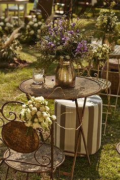 Decoração casamento no campo jardim estilo boho ( Decoração: Renata Paraiso | Foto: Yuri Sardenberg )