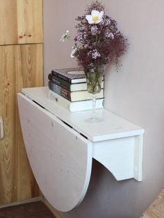 Wall mounted drop leaf table Fold down desk Wall mounted des.- Wall mounted drop leaf table Fold down desk Wall mounted desk Kitchen table Side table Space saving table Floating table Wall mounted desk Wooden wall mounted drop leaf by GoodMoodWoods - Asian Home Decor, Diy Home Decor, Fold Down Desk, Drop Down Desk, Space Saving Table, Small Kitchen Tables, Folding Kitchen Table, Wall Mounted Folding Table, Small Kitchen Plans