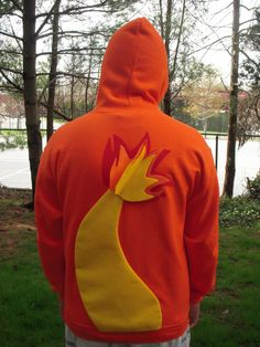 CHARMANDER with Flaming Tail inspired Pokemon hoodie by PoppityPop, $58.00