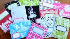 Cool Envelopes -- They make great note card envelopes, pockets for supplies, party favor holders or gift card wrappers. I use these as the front pocket in my SMASH Books. I just cut off one of the long side flaps. Perfect fit! -CLM