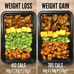 Weight Loss vs Weight Gain with Garlic Sriracha from Page 75 of The Meal Prep Minute Meals eBook. If you missed the post earlier… Lunch Meal Prep, Meal Prep Bowls, Healthy Meal Prep, Keto Meal, Simple Meal Prep, Healthy Menu, Meal Prep For The Week, Dinner Healthy, Paleo Dinner