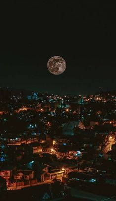 The moon as seen from Baguio City, Philippines. Wallpaper Earth, Lit Wallpaper, Good Night Wallpaper, Aesthetic Iphone Wallpaper, Aesthetic Wallpapers, Wallpaper Backgrounds, Hd Phone Wallpapers, City Lights At Night, Night City
