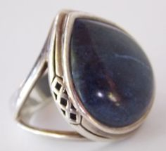 Vintage Sterling Silver Lapis Ring by TheButterflyBoxdeitz on Etsy, $60.00