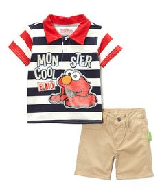 This Elmo Polo & Shorts - Infant is perfect! #zulilyfinds