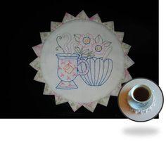 Prairie Point Tea Mat Embroidery Article