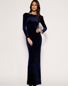 Evening Dinner Dress | ... Evening and Dinner dresses velvet sapphire blue long Dresses S/M/L/XL