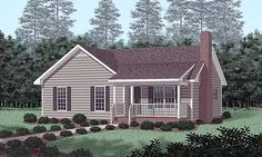 Traditional   House Plan 45391- Really like this design even if it is small. It is simple and practical.
