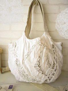 Linen lace bag