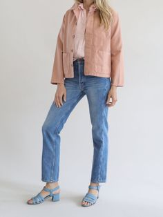 Caron Callahan - Krasner Jacket - Peach Twill