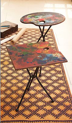 Tozai Home Artist Palette Folding Tables