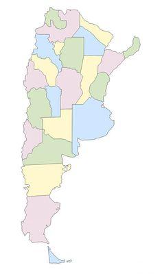 Mapa político de Argentina mudo