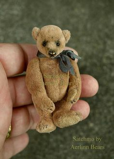 Satchmo One Of a Kind Miniature Artist Teddy Bear by aerlinnbears