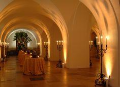 Cream corridor in Banqueting House