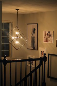 Awesome chandelier from Shades of Light, as seen on Chris Loves Julia