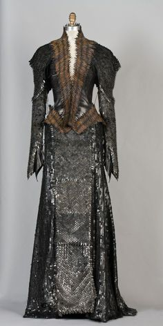 "Atwood nicknamed the leather-spiked chainmail gown that Ravenna wears during a climactic scene with Snow White ""the porcupine dress."""