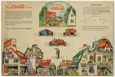 77.2959: Toy Coca-Cola Town | paper toy | Play Sets | Toys | Online Collections | The Strong