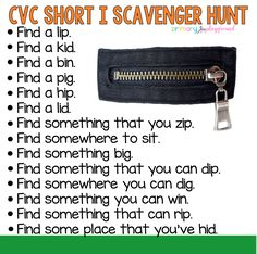 Here's a fun scavenger hunt to help your little learners practice CVC words!