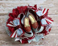 Ruby slippers hair bow