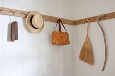 storage, hallway, interior, simple, design, white, pegs