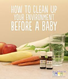 """From food and body care products, to the household cleaning and materials, having a baby can change your lifestyle. If you want to """"go green"""" before baby arrives, check out this short list of tips to detox your life. Getting Pregnant With Twins, Homemade Cleaning Products, Household Products, Baby Products, Pregnancy Signs, Pregnancy Checklist, Getting Ready For Baby, Baby Care Tips, Body Detox"""