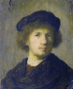 Rembrandt  Selbstportrait 1630 1c uhr - Stockholm NM